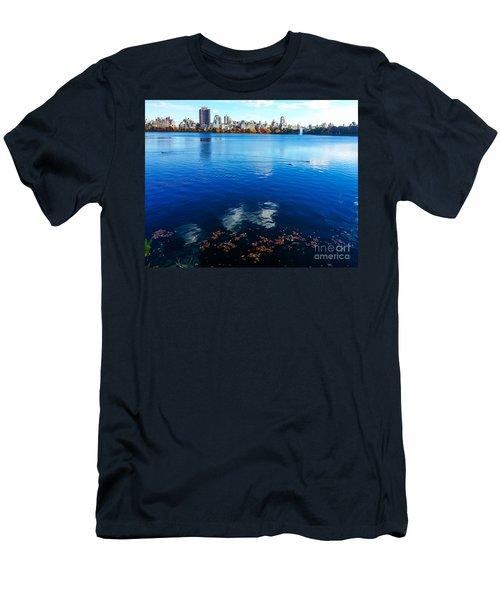 Hudson River Fall Landscape Men's T-Shirt (Athletic Fit)