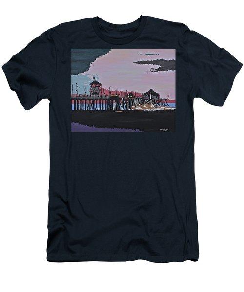 Huntington Beach Pier 1 Men's T-Shirt (Athletic Fit)