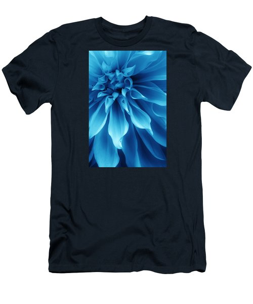 Ice Blue Dahlia Men's T-Shirt (Athletic Fit)