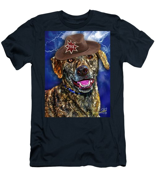 Men's T-Shirt (Athletic Fit) featuring the digital art I'm A Canine Community Reporter by Kathy Tarochione