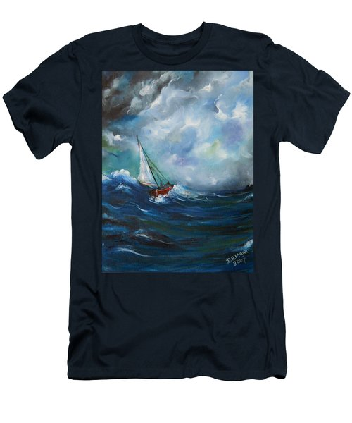 In The Storm Men's T-Shirt (Slim Fit) by Dorothy Maier