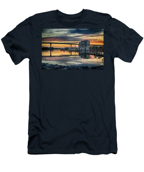 Intercoastal Waterway And The Wharf Men's T-Shirt (Athletic Fit)