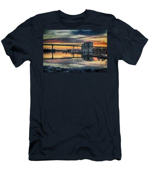 Intercoastal Waterway And The Wharf Men's T-Shirt (Slim Fit) by Michael Thomas