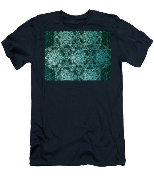 Men's T-Shirt (Slim Fit) featuring the drawing Interference by Jason Padgett