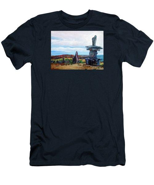 Inukshuk Men's T-Shirt (Slim Fit) by Marilyn  McNish