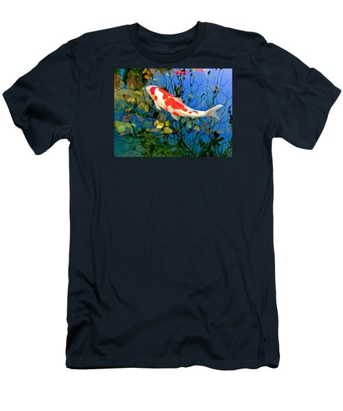 Koi Men's T-Shirt (Slim Fit) by Wayne King