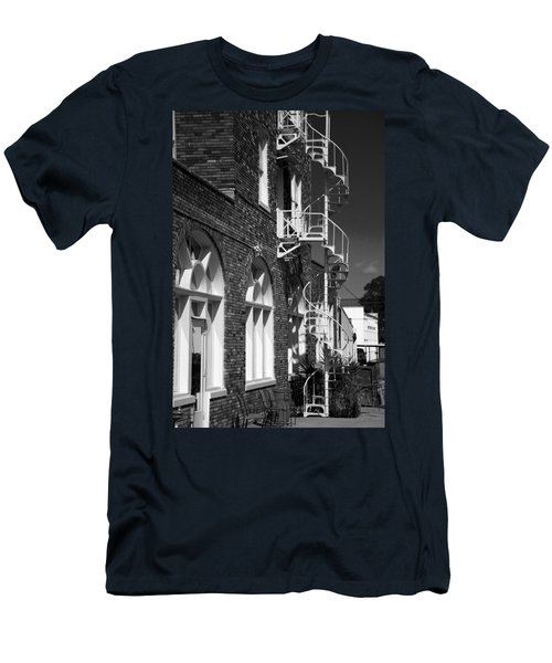 Jacaranda Hotel Fire Escape Men's T-Shirt (Athletic Fit)
