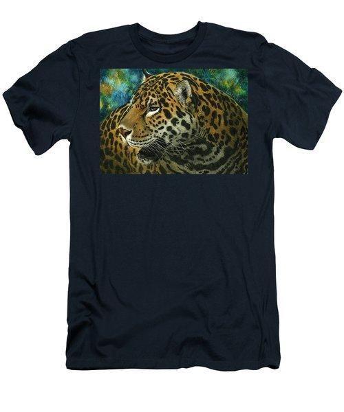 Jaguar Men's T-Shirt (Slim Fit) by Sandra LaFaut