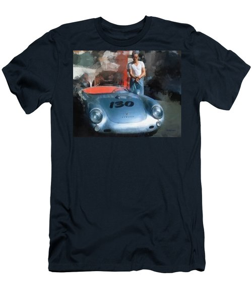 James Dean With His Spyder Men's T-Shirt (Athletic Fit)