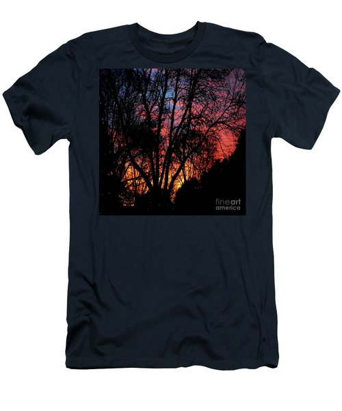 Men's T-Shirt (Slim Fit) featuring the photograph January Dawn by Luther Fine Art