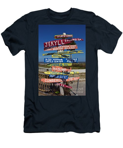 Jekyll Island Sign Men's T-Shirt (Athletic Fit)
