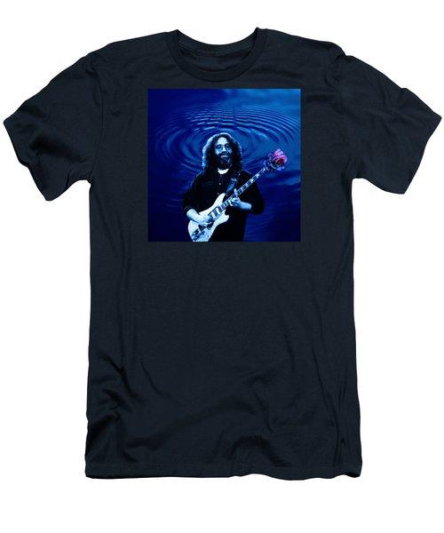 Blue Ripple Rose Men's T-Shirt (Athletic Fit)