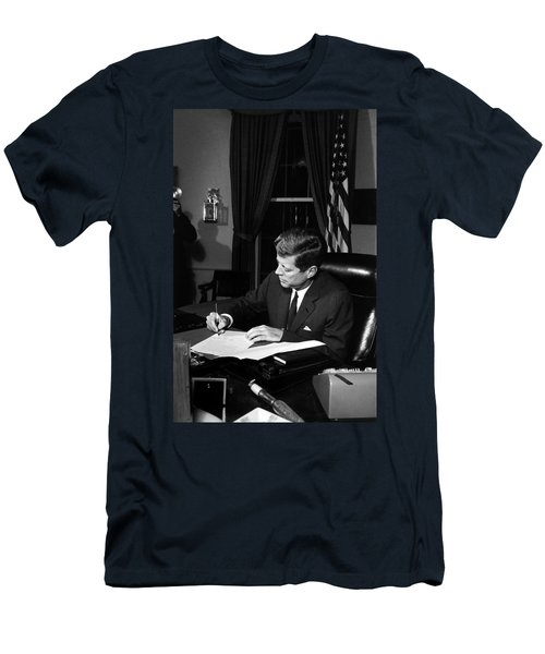 Jfk Signing The Cuba Quarantine Men's T-Shirt (Athletic Fit)