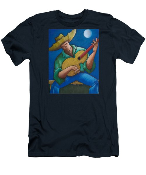 Jibaro Bajo La Luna Men's T-Shirt (Athletic Fit)