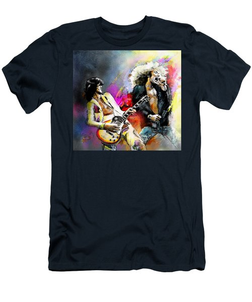Jimmy Page And Robert Plant Led Zeppelin Men's T-Shirt (Athletic Fit)