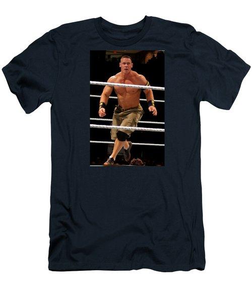 John Cena In Action Men's T-Shirt (Slim Fit) by Paul  Wilford