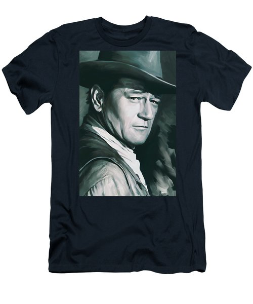 John Wayne Artwork Men's T-Shirt (Athletic Fit)