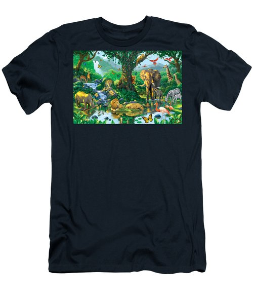 Jungle Harmony Men's T-Shirt (Slim Fit) by Chris Heitt