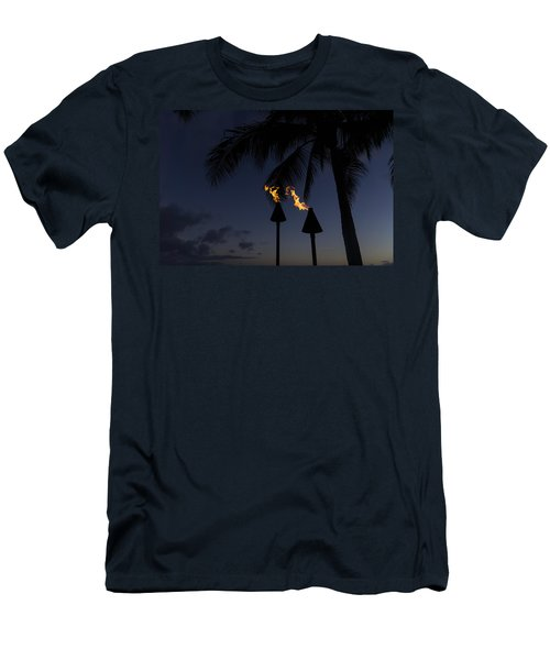 Just After Sunset The Beach Party Is Starting Men's T-Shirt (Athletic Fit)