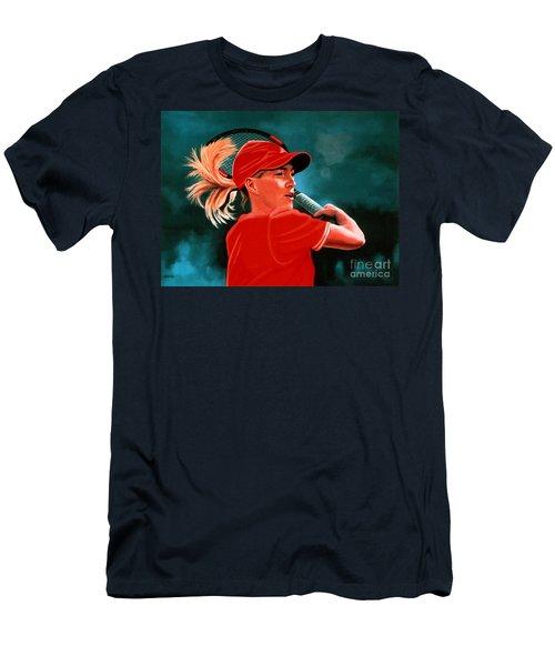 Justine Henin  Men's T-Shirt (Athletic Fit)