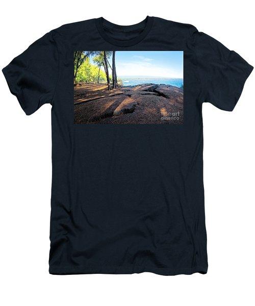 Men's T-Shirt (Slim Fit) featuring the photograph Kaloli Point 3 by Ellen Cotton