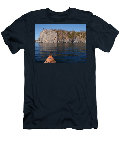 Men's T-Shirt (Slim Fit) featuring the photograph Kayaking Beneath The Light by James Peterson
