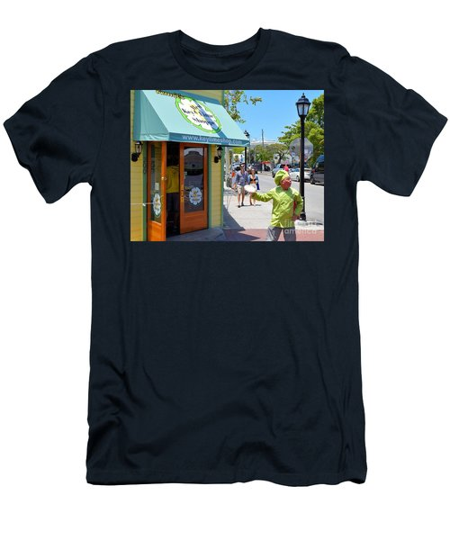 Key Lime Pie Man In Key West Men's T-Shirt (Athletic Fit)