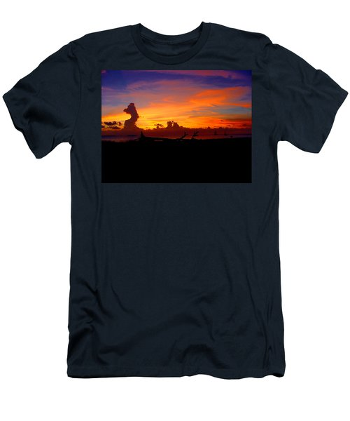 Key West Sun Set Men's T-Shirt (Slim Fit) by Iconic Images Art Gallery David Pucciarelli