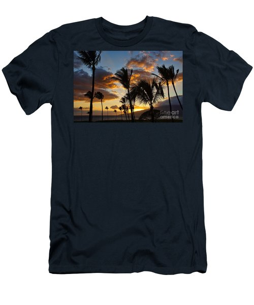 Men's T-Shirt (Slim Fit) featuring the photograph Kihei At Dusk by Peggy Hughes