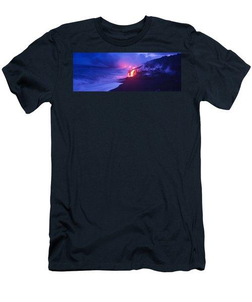 Kilauea Volcano, Hawaii, Usa Men's T-Shirt (Athletic Fit)