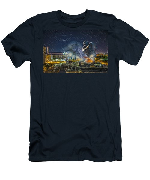 Men's T-Shirt (Slim Fit) featuring the photograph King Kong By Ford Field by Nicholas  Grunas