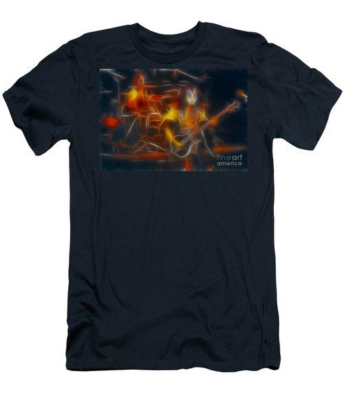 Kiss-gene-b36a-fractal-1 Men's T-Shirt (Athletic Fit)