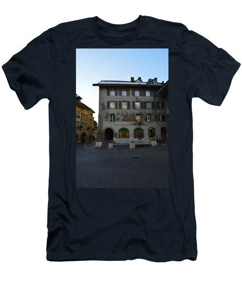 Men's T-Shirt (Slim Fit) featuring the photograph Kronenplatz by Felicia Tica