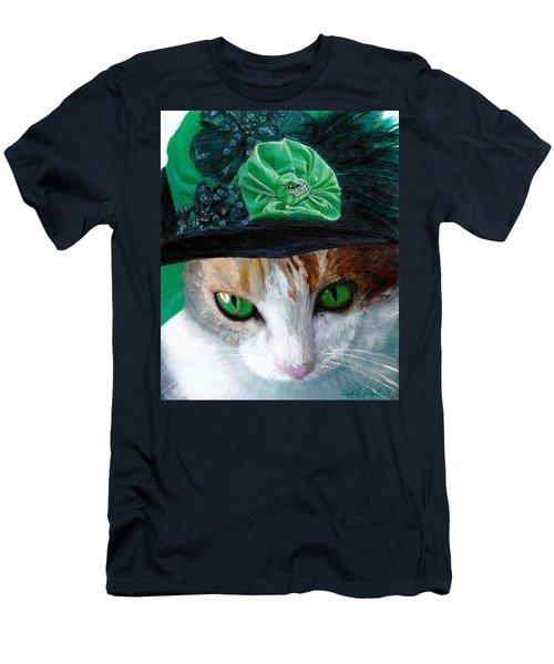 Lady Little Girl Cats In Hats Men's T-Shirt (Slim Fit) by Michele Avanti