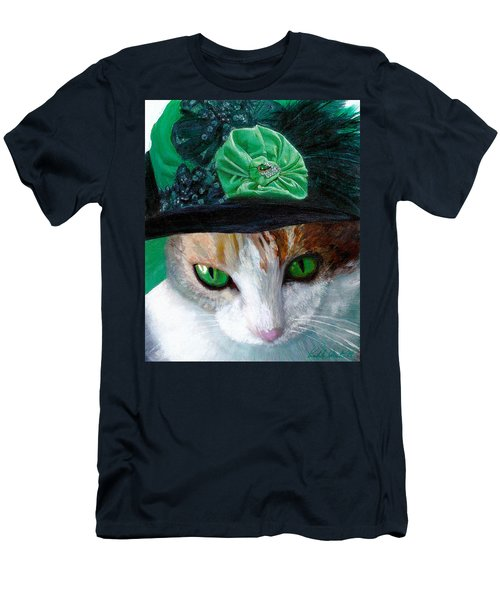 Lady Little Girl Cats In Hats Men's T-Shirt (Athletic Fit)