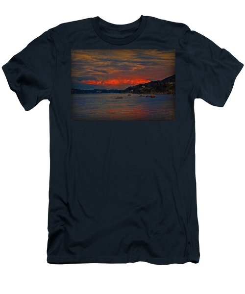 Men's T-Shirt (Slim Fit) featuring the photograph Lago Maggiore by Hanny Heim