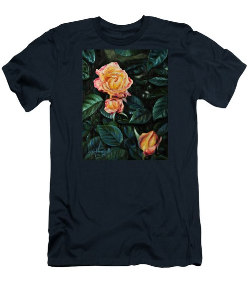 Men's T-Shirt (Slim Fit) featuring the painting Lake J Rose by Craig T Burgwardt