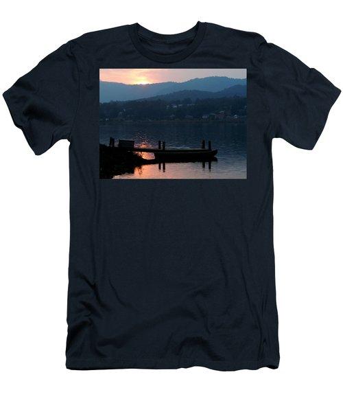 Lake J Sunset Men's T-Shirt (Athletic Fit)
