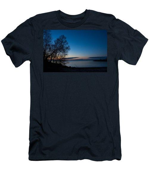Men's T-Shirt (Slim Fit) featuring the photograph Lake Ontario Blue Hour by Georgia Mizuleva