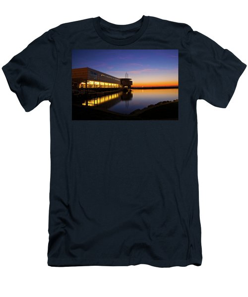 Men's T-Shirt (Slim Fit) featuring the photograph Lakefront Sunrise by Jonah  Anderson