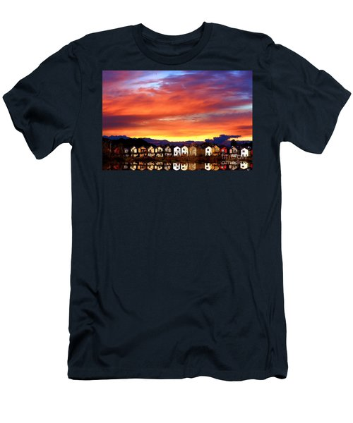 Lakeside Reflections Men's T-Shirt (Slim Fit) by Nick Gustafson