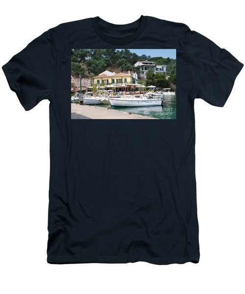 Lakka Harbour On Paxos Men's T-Shirt (Athletic Fit)
