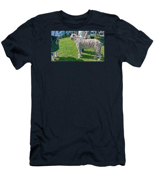 Large Irish Wolfhound Dog  Men's T-Shirt (Slim Fit) by Valerie Garner
