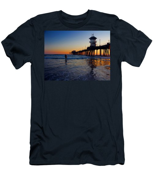 Last Wave Men's T-Shirt (Slim Fit) by Tammy Espino
