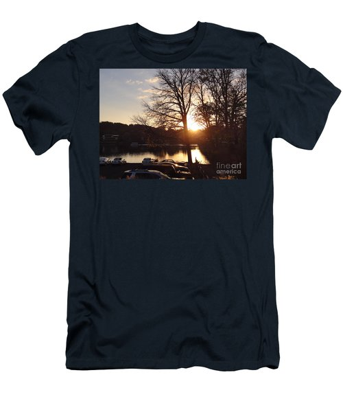 Late Fall At The Station Men's T-Shirt (Athletic Fit)