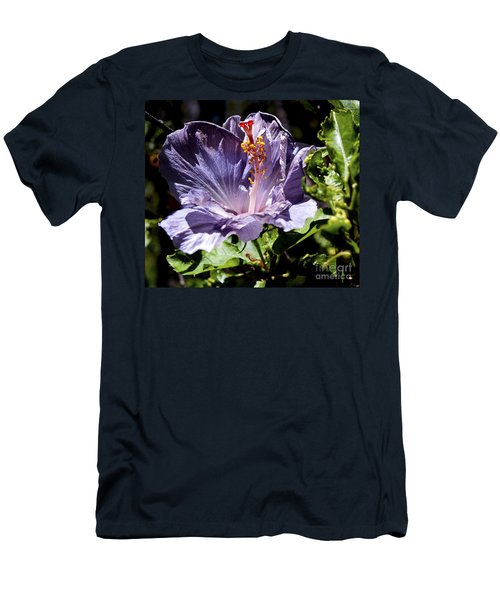 Lavender Hibiscus Men's T-Shirt (Athletic Fit)