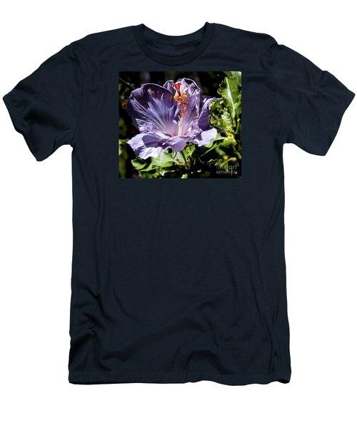 Lavender Hibiscus Men's T-Shirt (Athletic Fit)