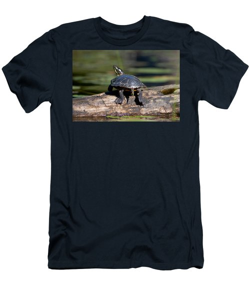 Lazy Day On A Log 6241 Men's T-Shirt (Athletic Fit)
