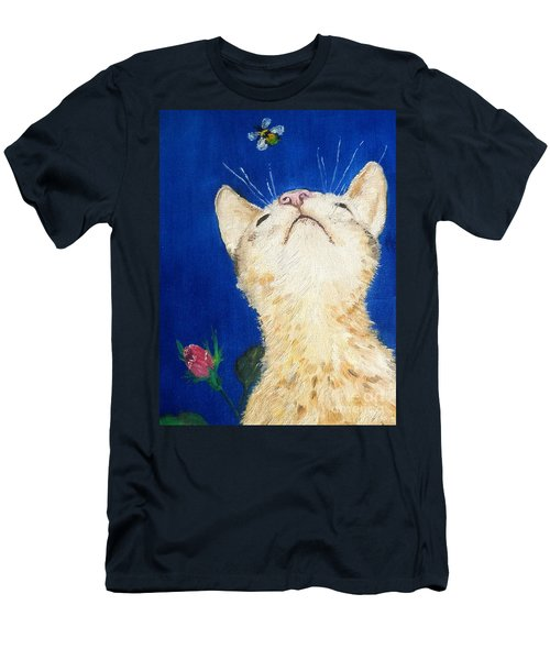 Lea And The Bee Men's T-Shirt (Slim Fit) by Reina Resto