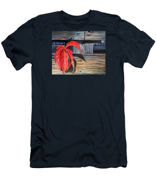 Leaf Shadow 2 Men's T-Shirt (Slim Fit) by Marilyn  McNish